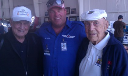 Bud Anderson WWII P51 Mustang Ace and Dick Cole – Jimmy Dolittle's co-pilot on the Raid on Tokyo