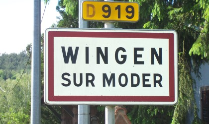 Wingen Sur Moder City sign