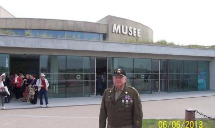 Utah Beach Museum with Birney Havey WWII Veteran