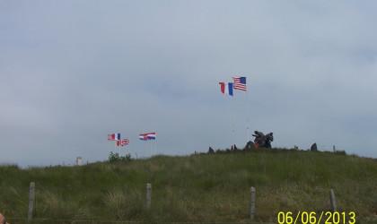 Flags at Utah Beach