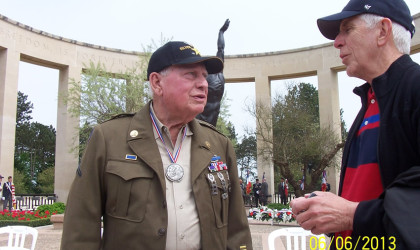 Chick Havey at the 69th Anniversary Omaha Beach