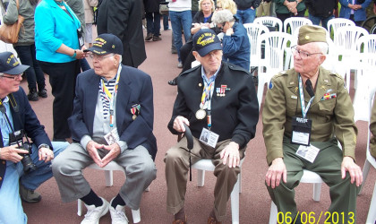 WWII Veterans being honored at Omaha Beach