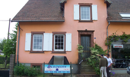 Home in Wingen Sur Moder, France where Chick Havey earned the Silver Star