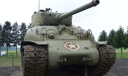 M4 Sherman Tank at the Maginot Line