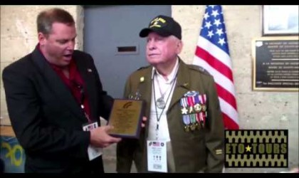 Utah Beach Museum Plaque Presentation to Birney Havey