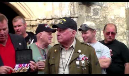 WWII ETO TOURS Medals Presentation in Sainte Mere Eglise to Birney Havey