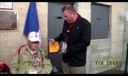 Utah Beach Museum Plaque Presentation to Nellis VerHey